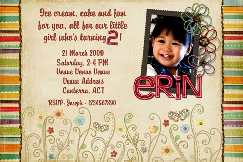 Year Invitation Birthday Cards 2 Year Old Birthday Invitations Templates Drevio