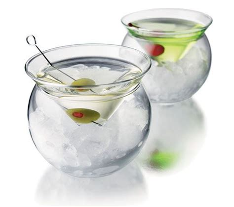 glasses with chilling bowls this is a great 2 pc glass www swankmartini com