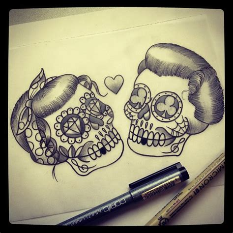 tattoo skull love love skull tattoo chest piece with curly mustache omg