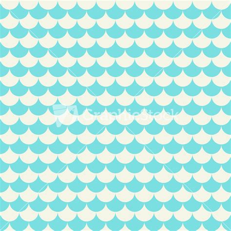 seamless pattern pale gray turquoise curls turquoise and white scales pattern