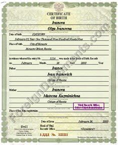 russian birth certificate translation template translation from russian of birth certificate