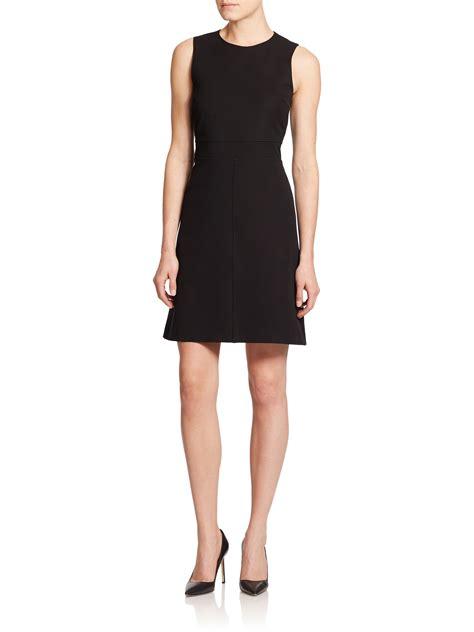 black knit dresses theory raneid seamed knit dress in black lyst