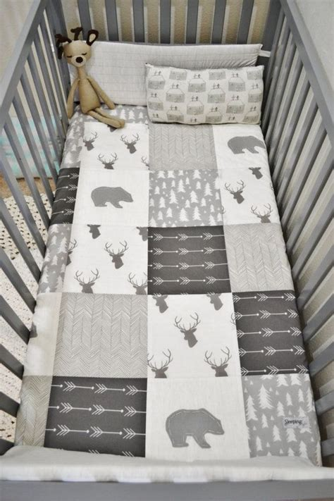 Patchwork Quilt Baby Bedding - woodland blanket baby patchwork quilt by