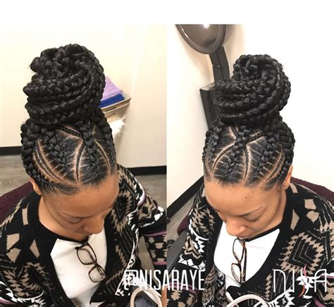 Braided Up Hairstyles by This Braided Up Do By Nisaraye Black Hair