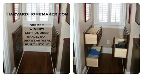 dormer storage ideas use wasted space behind walls created by dormer windows