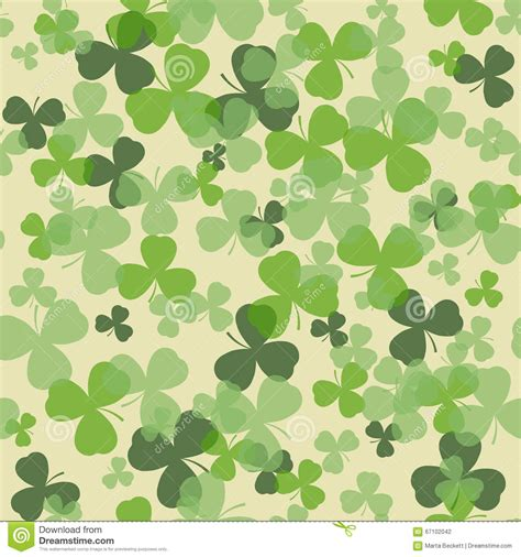 Clover Green green clover seamless pattern background vector