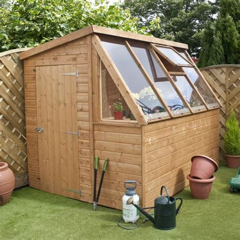 waltons tongue  groove potting shed wooden greenhouse