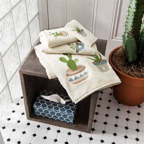 succulents in bathroom embroidered succulent towels simons rusticelegance
