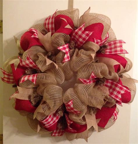 wreath ideas deco mesh burlap wreath christmas ideas pinterest