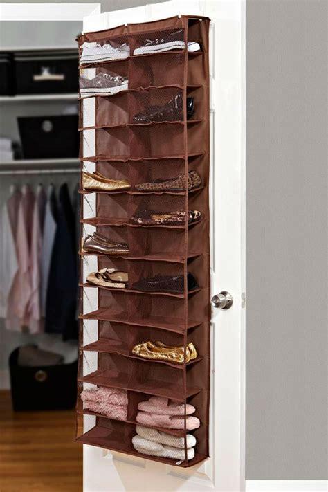 door shoe storage 26 pocket the door shoe organizer chocolate