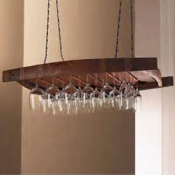 vintage oak hanging wine glass rack contemporary wine