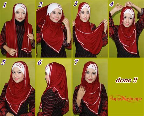 tutorial gambar pakai shawl sityaiza harisaza tutorial shawl