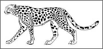 cheetah template large cheetah wall stencil