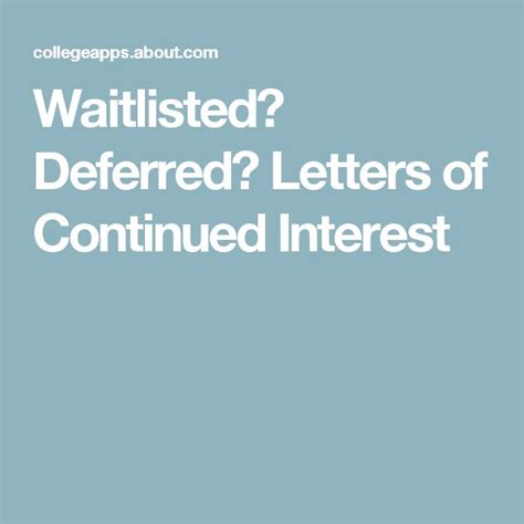 Columbia Mba Deferred To Regular Decision by Sle Response To College Deferral Letter College Tips