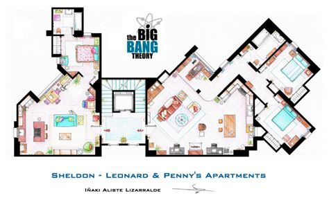 apartments house plans layout a sle set of floor map for the big bang theory youbentmywookie