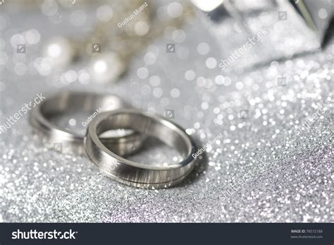 Silwer Rings Photo by Wedding Rings In Silver On A Luxury And Sparkle Background