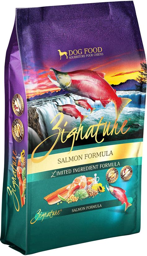 zignature puppy food zignature salmon limited ingredient formula grain free food 27 lb bag chewy