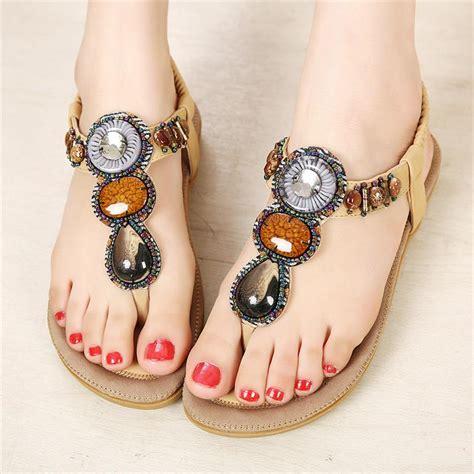 2018 new summer sandals fashion flip flop sandals bohemian style
