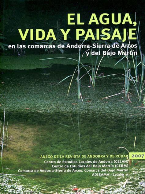 libro las aguas de la el libro agua vida y paisaje habla de alcaine alcaine teruel