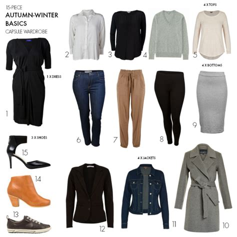 15 autumn winter basics capsule wardrobe