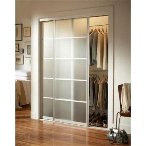 interior sliding doors home depot contractors wardrobe silhouette 5 lite aluminum brushed