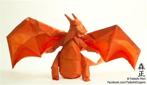 How To Make A Paper Charizard - origami gotta fold em all