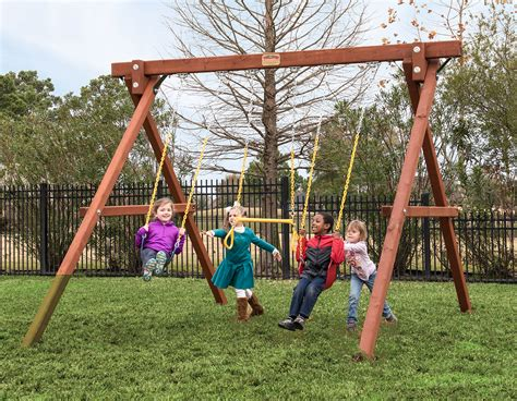 swing lifrstyle 8 stand alone swingbeam swing set treefrogs swingsets