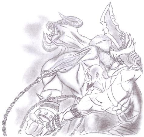imagenes de kratos para dibujar faciles dibujos anime minotauro gigante the giant minotaur