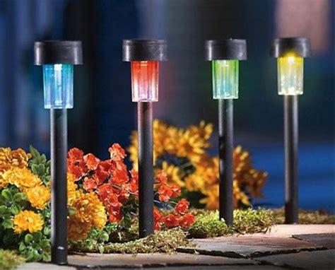 color changing solar path lights set of 4 solar powered color changing path lights