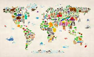 Map Of The World Wall Mural world map wallpaper for kids wallpapersafari