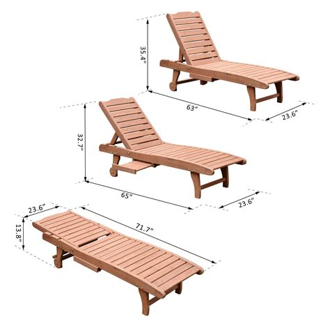 wooden outdoor chaise lounge chairs outsunny wooden chaise lounge outdoor patio furniture