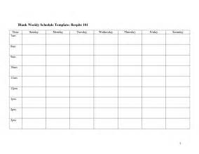 printable work schedule templates 8 best images of free printable blank weekly schedule