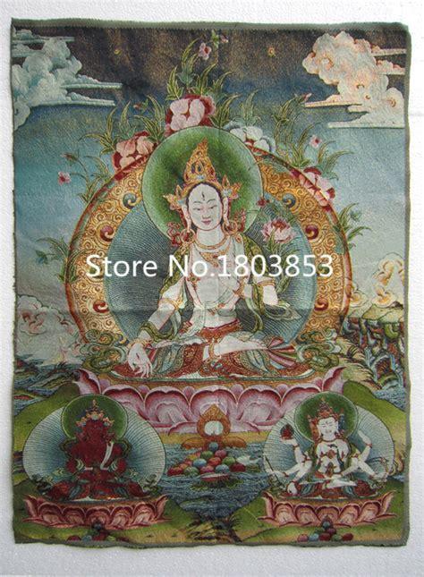 home decor big buddha buddhism antique art wall canvas print picture background ebay tibet nepal silk embroidery art buddhist kuan yin tangka