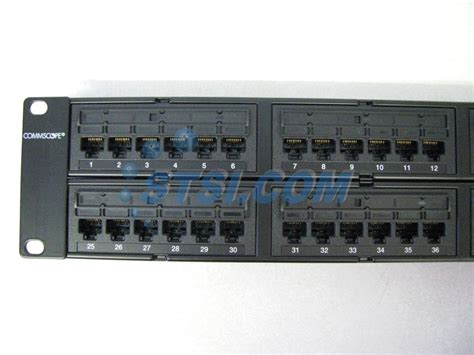 Patch Panel Commscope commscope uniprise 48 port cat6 patch panel 760180059 unp u 610 2u 48 stsi ebay