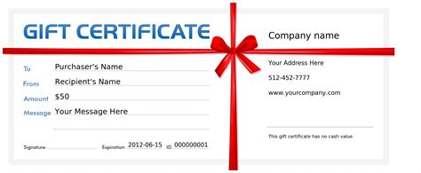 make a gift certificate create gift certificates printable templates