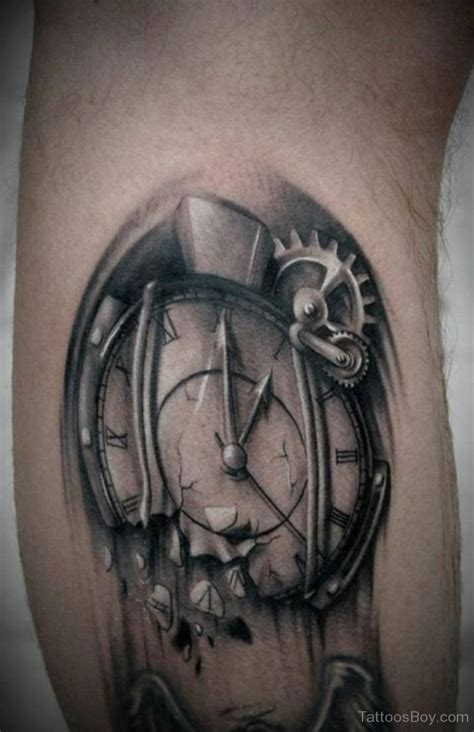 broken compass tattoo clock tattoos designs pictures page 27