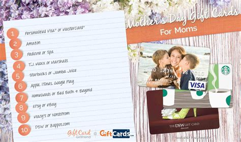 Gift Cards For Mom - top 10 mother s day gift cards for mom gcg