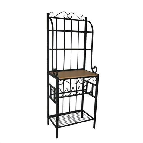 Bakers Rack Shelf by Praha 4 Shelf Baker S Rack In Black 12503