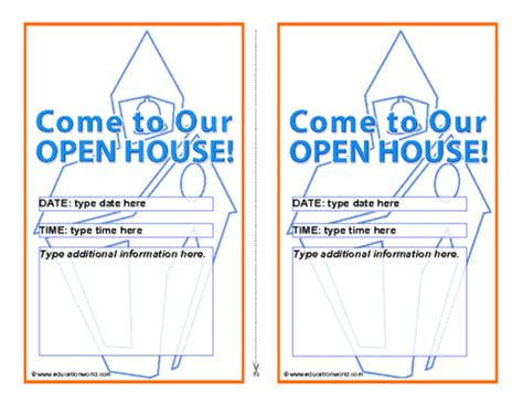 free open house post card templates open house invitation template education world
