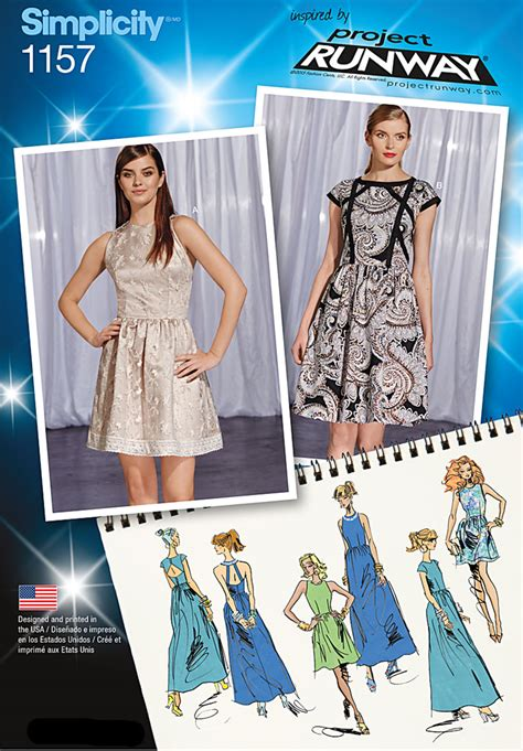 pattern runway review simplicity 1157 misses dresses project runway collection