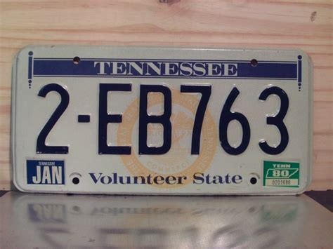 Tennessee Vanity Plates by 1980 Tennessee Yom License Plate Tag Tn 2eb763