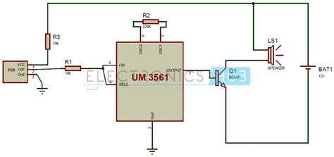 wiring diagram for pir security sensor home alarm circuit