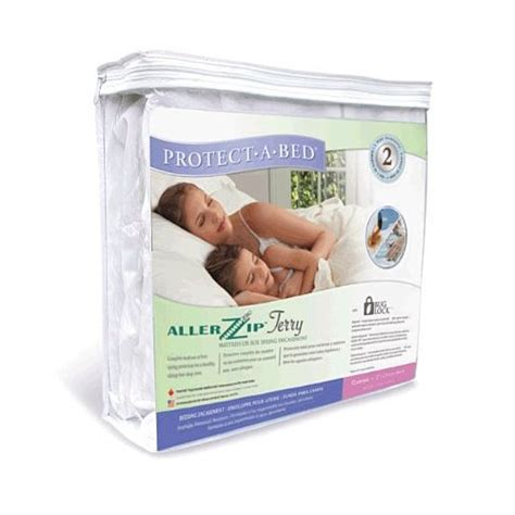 protect  bed allerzip terry allergy bed bug  mattress protector king size ebay
