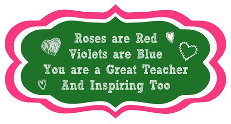 valentines day quotes for teachers poems for teachers top ten quotes