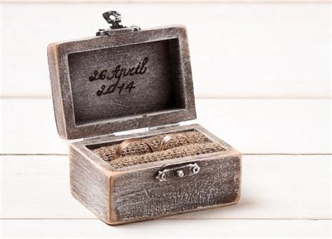 wedding ring box ring holder pillow bearer box
