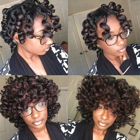 Ththermal Rods Hairstyle | perm rod set using ors lock and twist gel and premium