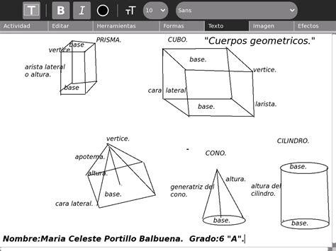 figuras geometricas y sus partes experimentando la xo cuerpos geometricos