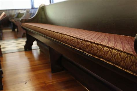 Church Pew Upholstery by Pew Cushions Pads Cushioning For Church Pews