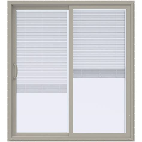 ply gem 72 in x 80 in vinyl left sliding patio door with lowe solar cooling insulated