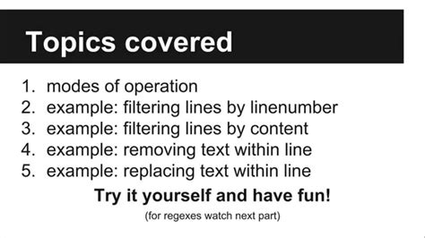 sed tutorial linux commands tutorial sed basics